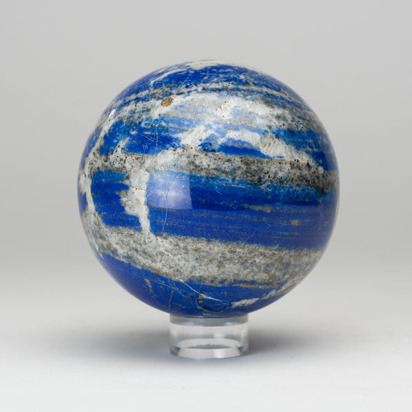 "Polished Lapis Lazuli Sphere from Afghanistan (3.5"", 2 lbs)"