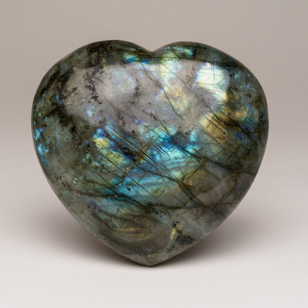 Polished Labradorite Heart (564.1 grams)