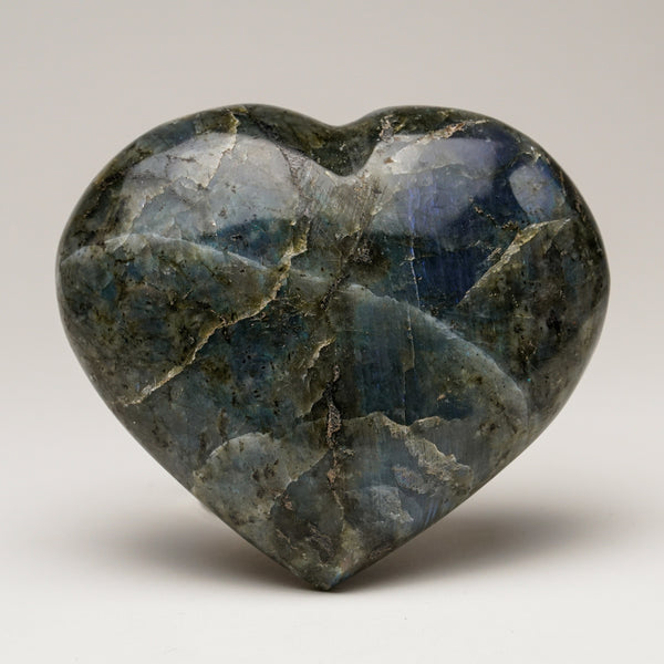 Polished Labradorite Heart (475.8 grams)