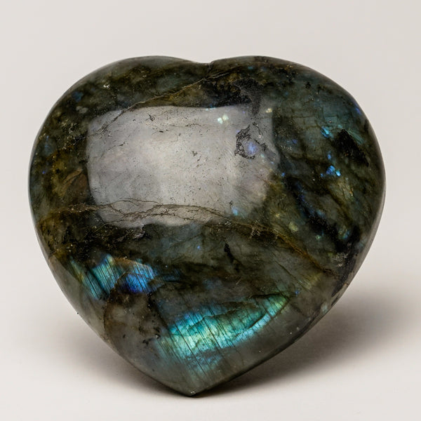 Polished Labradorite Heart (443.8 grams)