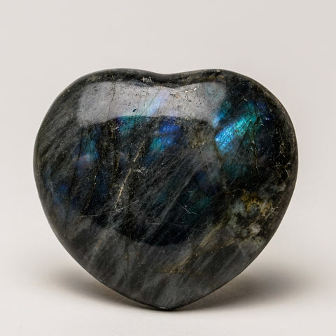 Polished Labradorite Heart (126.5 grams)