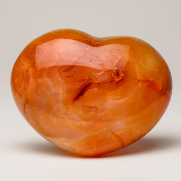 Gem Carnelian Agate Heart (296.7 grams)
