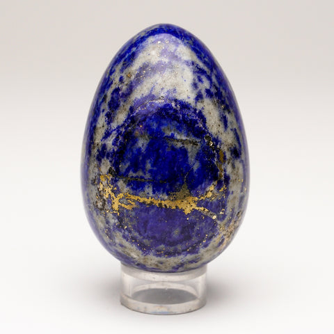 Polished Lapis Lazuli Egg from Afghanistan (2.8'', 265.9 grams)