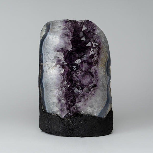 Amethyst Cluster Geode from Brazil (11 lbs)