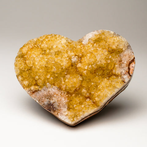 Citrine Cluster Heart from Uruguay (1.1 lbs)