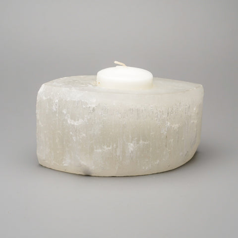 Quartz Gemstone Candle Holder (1.7 lbs)