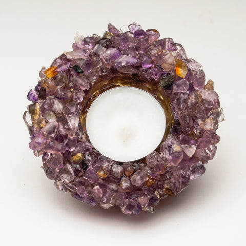 Amethyst Gemstone Candle Holder (262 grams)