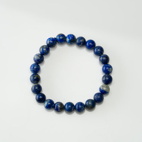 Lapis Lazuli 8mm Beaded Stretch Bracelet