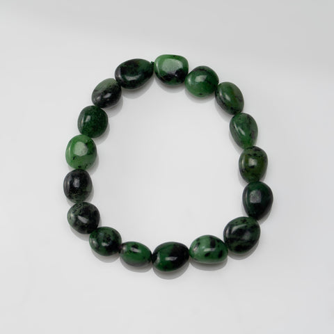 Ruby Zoisite Nugget Beaded Stretch Bracelet