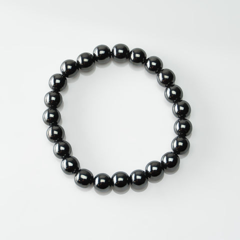 Hematite 8mm Beaded Stretch Bracelet