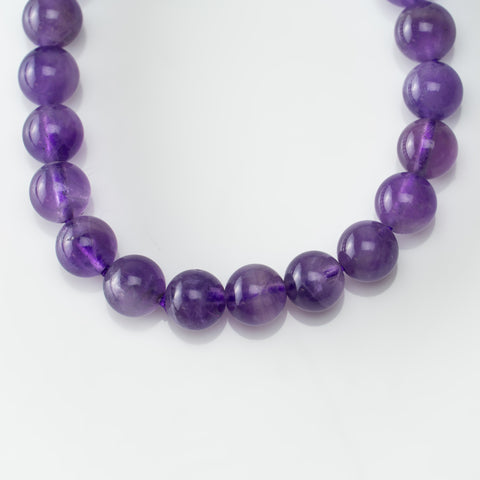 Amethyst 8mm Beaded Stretch Bracelet