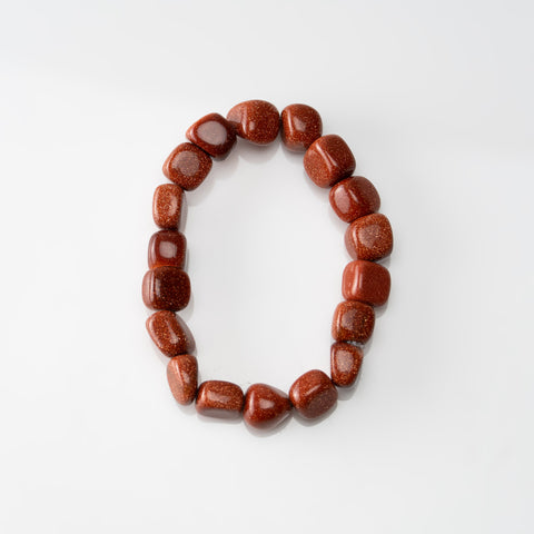 Goldstone Nugget Beaded Stretch Bracelet