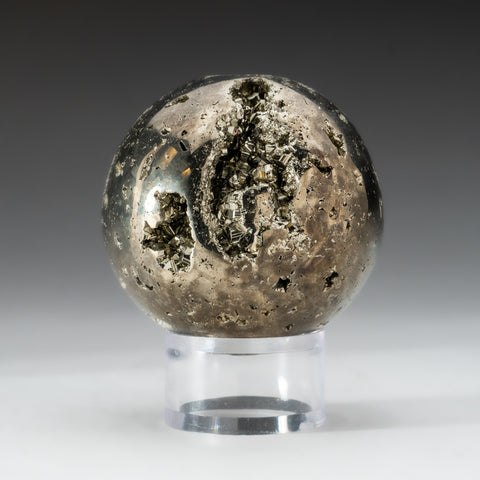"Polished Pyrite Sphere from Peru (2.75"", 2 lbs)"