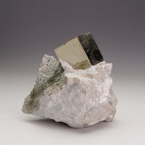 Pyrite Cube on Basalt From Navajun, Spain (513.7 grams)