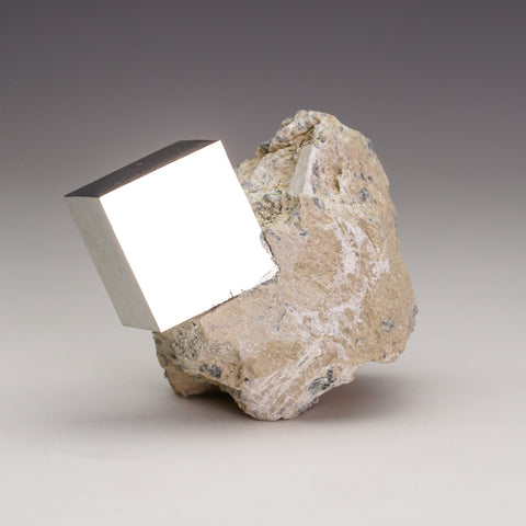 Pyrite Cube on Basalt From Navajun, Spain (175.6 grams)