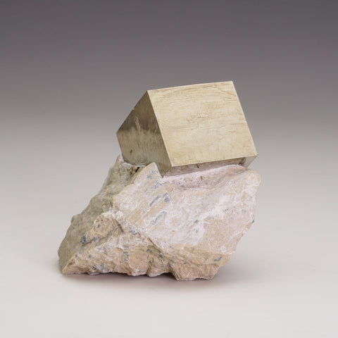 Pyrite Cube on Basalt From Navajun, Spain (172.1 grams)