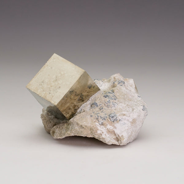 Pyrite Cube on Basalt From Navajun, Spain (151.9 grams)