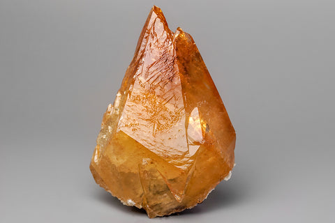Golden Calcite from Elmwood Mine, Carthage, Smith County, Tennessee