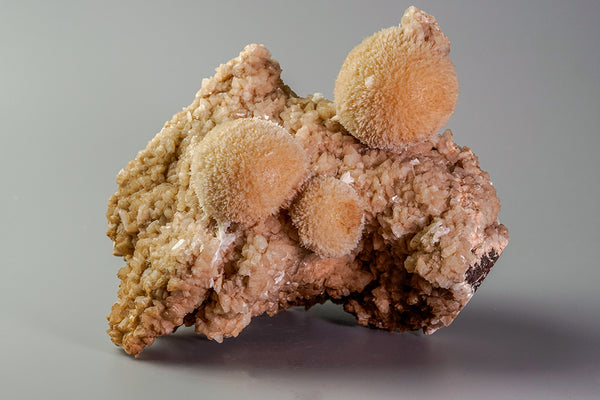 THOMSONITE CLUSTER WITH MESOLITE AND HEULANDITE FROM AURANGABAD, INDIA