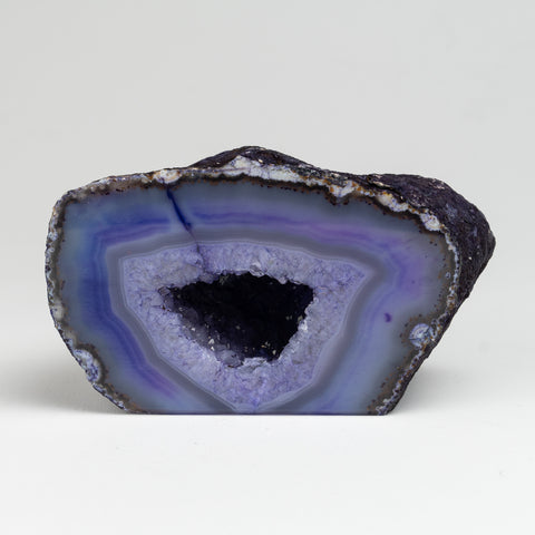 Purple Banded Agate Geode From Brazil (1.5 lbs)