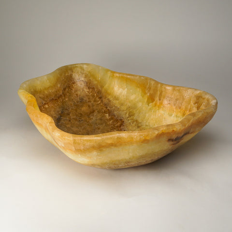 Natural Onyx Bowl From Mexico (17.5 lbs)