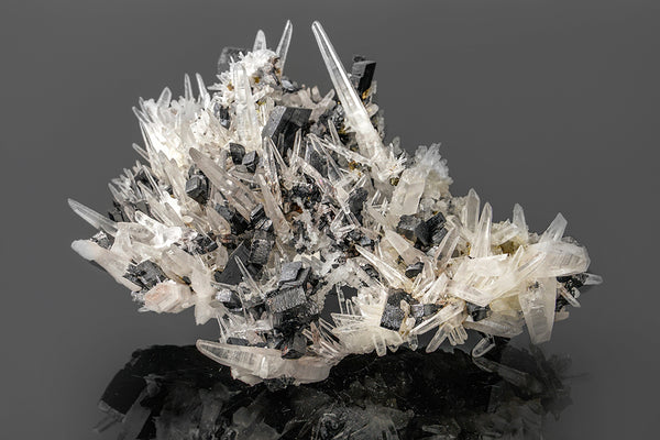 Hubnerite with Quartz From Mundo Nuevo Mine, Peru