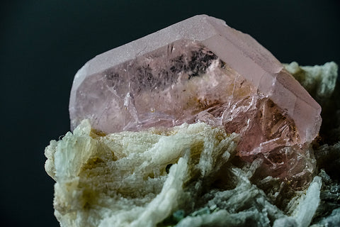 Morganite on Albite From Shigar Valley, Gilgit-Baltistan, Pakistan