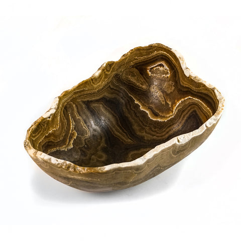 Brown Onyx Bowl From Mexico (15 lbs)