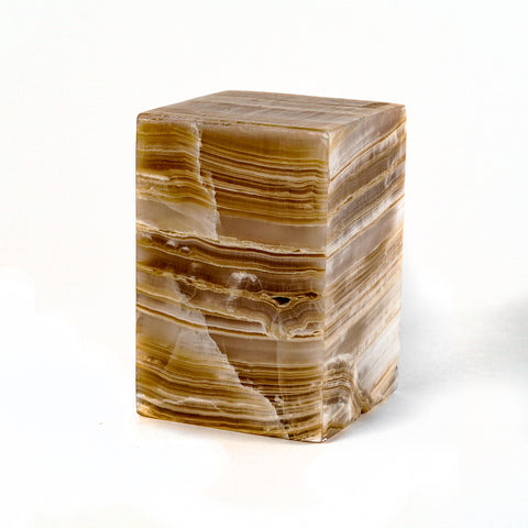 "Small Square Onyx Lamp from Mexico (6"", 5 lbs)"