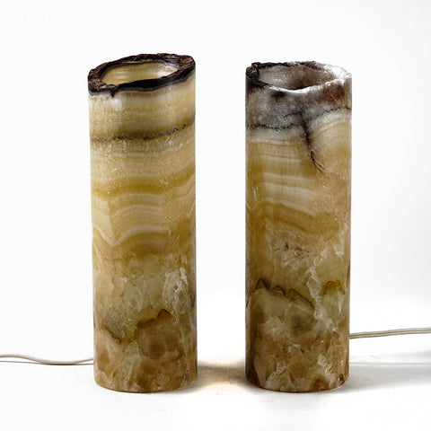 "Small Onyx Lamp Set from Mexico (10"", 3.5 lbs)"