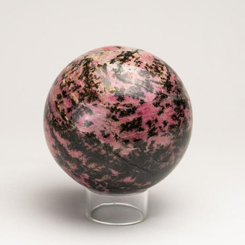 Polished Imperial Rhodonite Sphere from Madagascar (4.5'', 6 lbs)