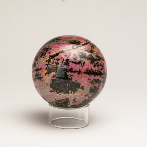 Polished Imperial Rhodonite Sphere from Madagascar (3.5'', 3 lbs)