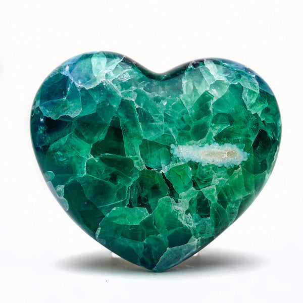 Rainbow Fluorite Heart From Mexico (2.5 lbs)