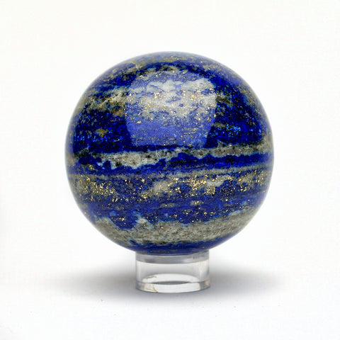 Polished Lapis Lazuli Sphere from Afghanistan (2.7'', 1.25 lbs )