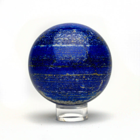 Polished Lapis Lazuli Sphere from Afghanistan (2.5'', 1 lb)