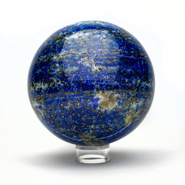 Polished Lapis Lazuli Sphere from Afghanistan (3.6'', 2.5 lbs)
