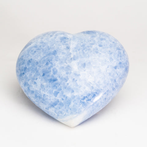 Blue Calcite Heart from Mexico (4 lbs)