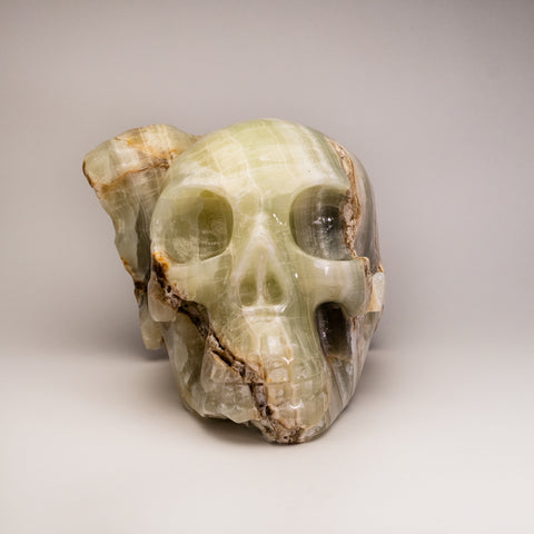 Green Skull Onyx Carving (24 lbs)