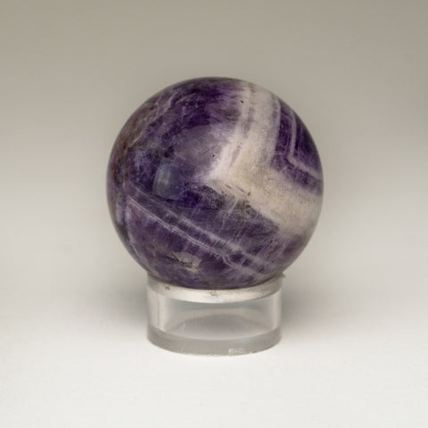"Polished Chevron Amethyst Sphere from Brazil (1.5"", 91 grams)"