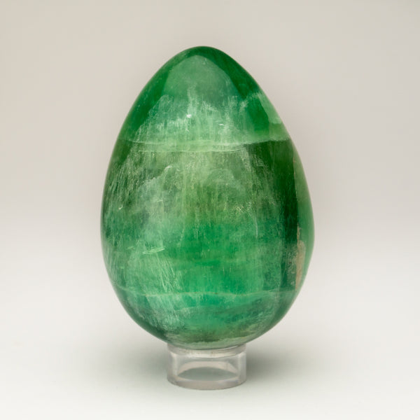 Polished Green Fluorite Egg from Argentina (1.5 lbs)