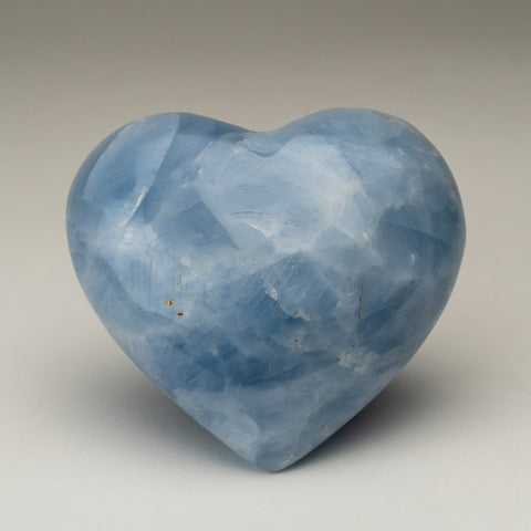 Blue Calcite Heart from Mexico (1.4 lbs)