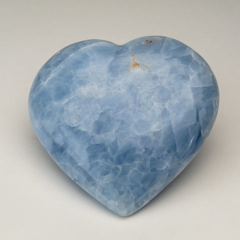 Blue Calcite Heart from Mexico (1.5 lbs)