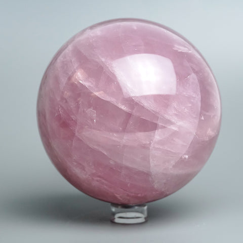 "Polished Rose Quartz Sphere from Madagascar (5"" Diameter, 6 lbs)"