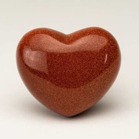Polished Small Red Goldstone Heart (61.4 grams)