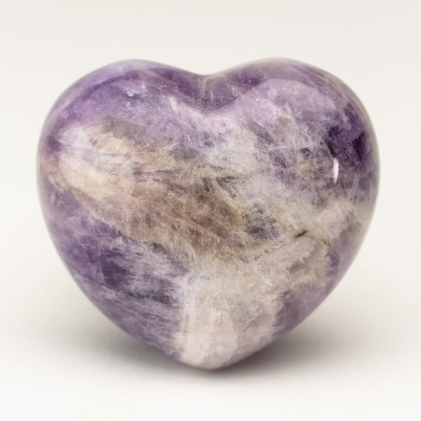 Polished Chevron Amethyst Small Heart from Brazil (69 grams)