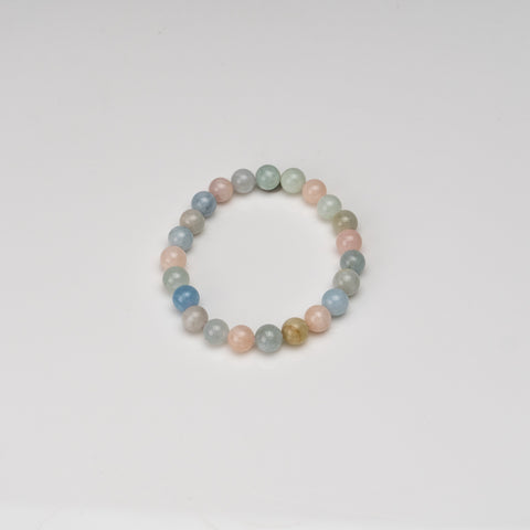 Morganite 6-7mm Beaded Stretch Bracelet