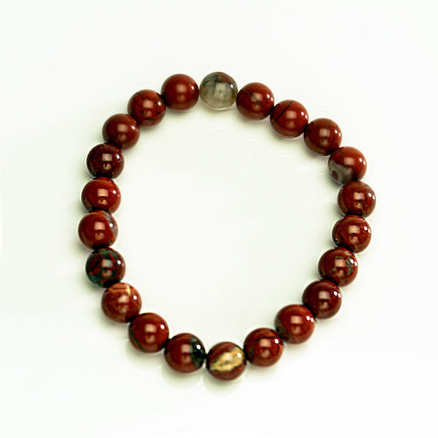 Red Jasper 8mm Beaded Stretch Bracelet