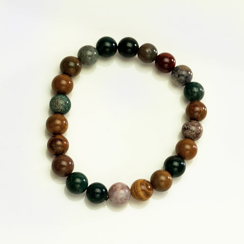 Ocean Jasper 8mm Beaded Stretch Bracelet