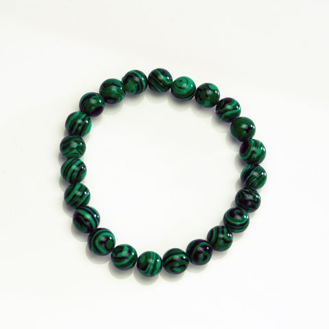 Malachite 8mm Beaded Stretch Bracelet