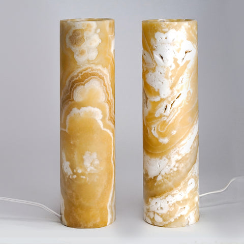 "Small Natural Onyx Lamp Set from Mexico (12"", 4 lbs)"